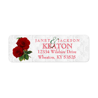 Deep Red Rose Floral Wedding