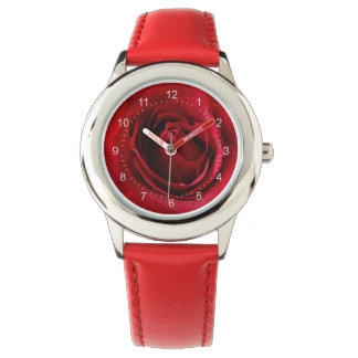 deep red rose watch