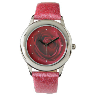 deep red rose watch