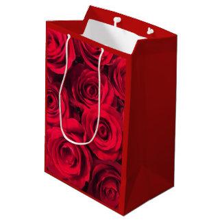 Deep Red Roses Medium Gift Bag