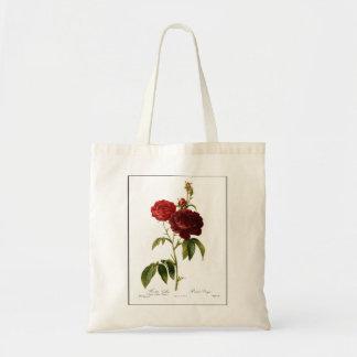 Deep red vintage roses painting