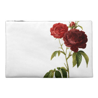 Deep red vintage roses painting travel accessories bags