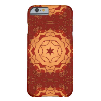 deep red with geometric star barely there iPhone 6 case