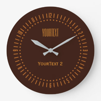 Deep Rich Brown Accent Color to Personalize on a Large Clock