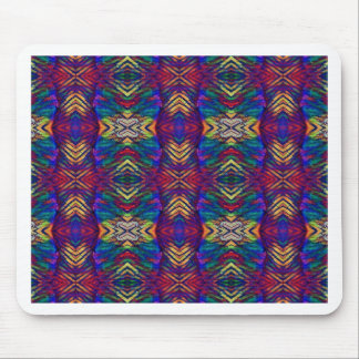 Deep Rich Fall Blues Purple Tribal Pattern Mouse Pad
