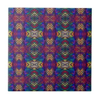 Deep Rich Fall Blues Purple Tribal Pattern Tile
