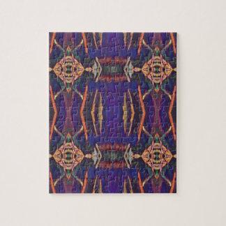 Deep Rich Purple Tribal Pattern Jigsaw Puzzle