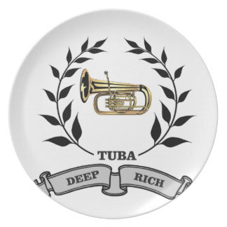 deep rich tuba party plates