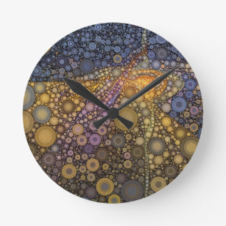 Deep Roots Abstract Round Clock