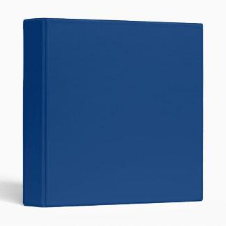 Deep royal blue vinyl binder