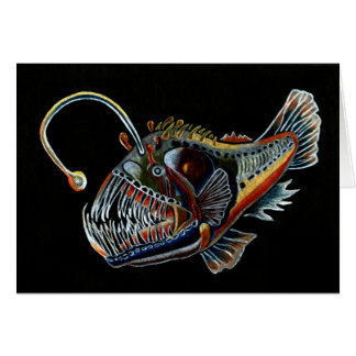 Deep Sea Angler Fish all occations card