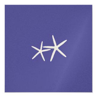 Deep Sea Blue Starfish Wedding Invitation