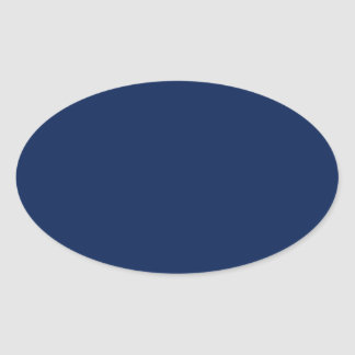 Deep Sea Blue Oval Sticker