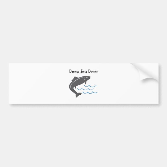 Deep Sea Diver Bumper Sticker