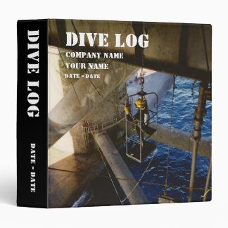 Deep Sea Diving Log Book Binder