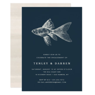 Deep Sea Engagement Party Invitation