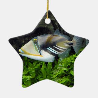 Deep sea fish ceramic ornament