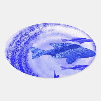 Deep Sea Fish Movement - Graphic Art Stickers