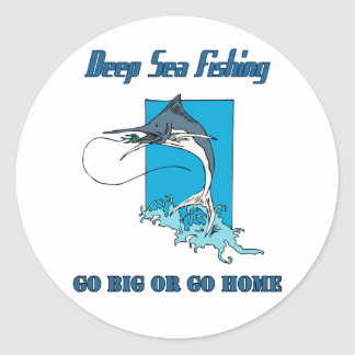 Deep Sea Fishing Sticker