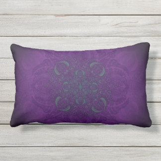 Deep Sea Glow Fleury Patio Lumbar Pillow