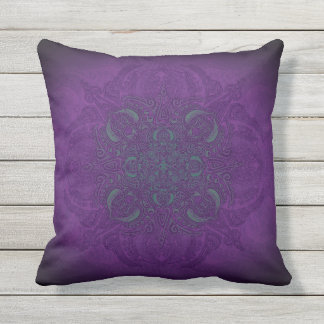 Deep Sea Glow Fleury Patio Outdoor Pillow