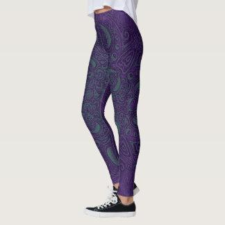 Deep Sea Glow Purple & Teal Fleury Leggings