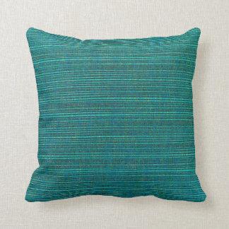 Deep Sea Green Throw Pillow