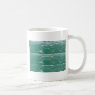Deep Sea Green :  Wave Pattern Coffee Mugs
