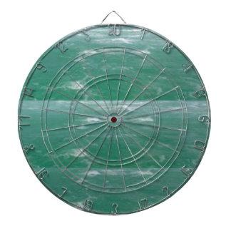 Deep Sea Green :  Wave Pattern Dart Board