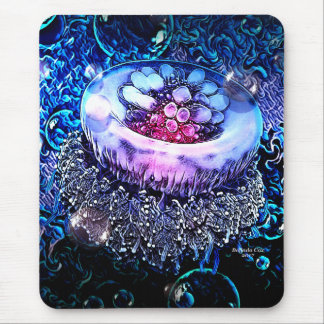 Deep Sea Jelly Fish by Artful Oasis Mouse Pad