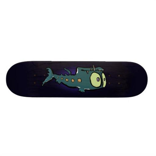 deep sea lantern fish custom skateboard