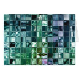 Deep Sea Liquid Mosaic Tile Art Card