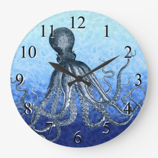 Deep Sea Octopus Large Clock