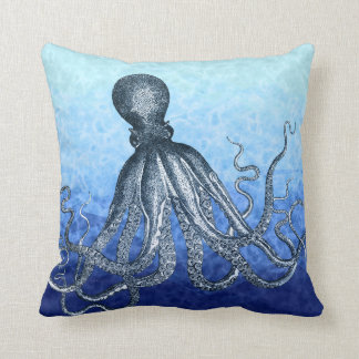 Deep Sea Octopus Throw Pillow