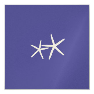 Deep Sea, Square Starfish Wedding Invitation