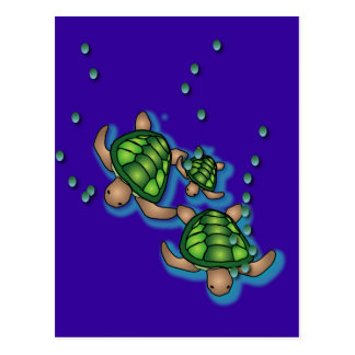 Deep Sea Turtles Postcard