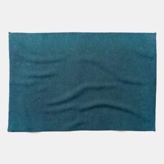 Deep Sea Watercolor - Dark Teal Blue and Aqua Kitchen Towel