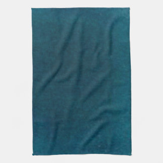 Deep Sea Watercolor - Dark Teal Blue and Aqua Kitchen Towel