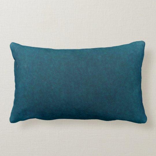 Deep Sea Watercolor - Dark Teal Blue and Aqua Lumbar Pillow