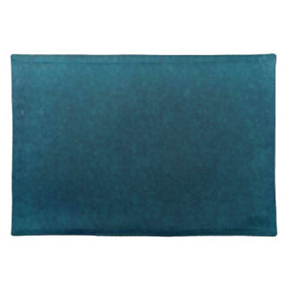 Deep Sea Watercolor - Dark Teal Blue and Aqua Placemat
