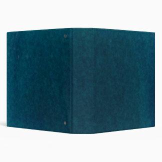 Deep Sea Watercolor - Dark Teal Blue and Aqua Vinyl Binder