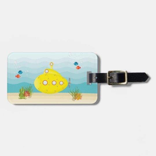 Deep Sea Yellow Submarine Luggage Tag