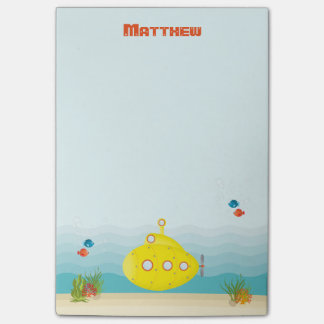 Deep Sea Yellow Submarine Post-it Notes