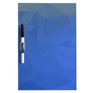Deep Sky Blue Abstract Low Polygon Background Dry Erase Board