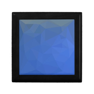Deep Sky Blue Abstract Low Polygon Background Gift Box