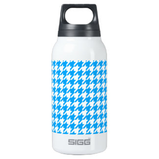 Deep Sky Blue Houndstooth Insulated Water Bottle