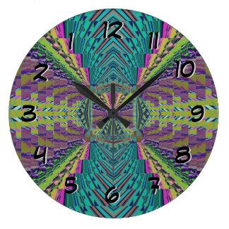 Deep Sound Crochet Look Large Clock