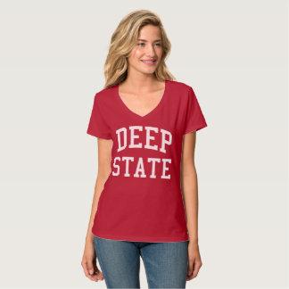 Deep State women's nano v-neck shirt