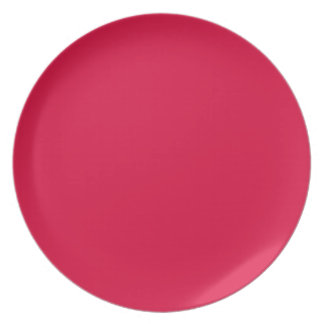 Deep Strawberry-Colored Plate