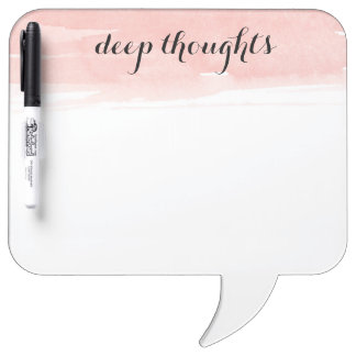 Deep Thoughts speech bubble dry erase board